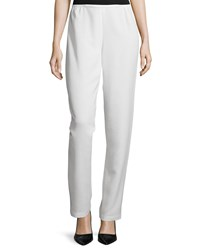 Caroline Rose Shantung Straight Leg Pants White Women's