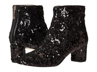 Kate Spade Tal Black Messy Sequins Women's Zip Boots