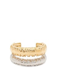Givenchy Eclipse Textured Double Cuff Gold