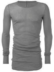 Rick Owens Forever Long Sleeve T Shirt Grey