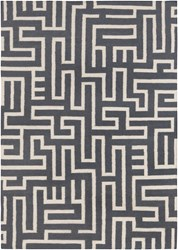 Chandra Lima Patterned Rectangular Reversible Wool Cotton Area Rug 4 Gray