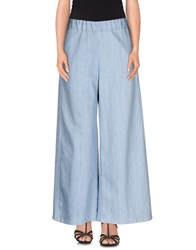 Rose' A Pois Denim Denim Trousers Women Blue