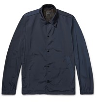 Theory Slim Fit Shell Coach Jacket Navy