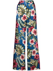 F.R.S For Restless Sleepers Floral Trousers Blue