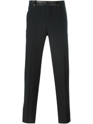 Givenchy Leather Waistband Trousers Black