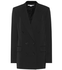 Stella Mccartney Double Breasted Wool Blazer Black