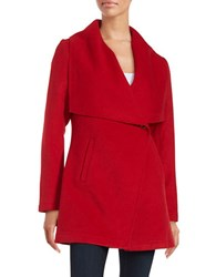 Laundry By Shelli Segal Wool Blend Coat Red