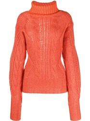 Aalto Cable Knit Jumper Orange