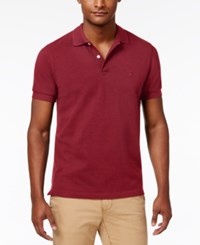 Brooks Brothers Red Fleece Men's Pique Knit Cotton Polo Bright Red