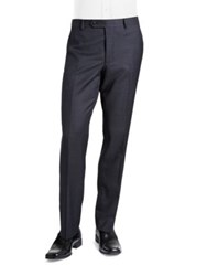 Black Brown Jack Fit Slim Textured Straight Leg Dress Pants Navy