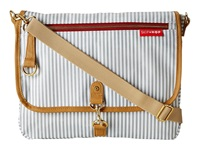 Skip Hop Soho Cross Body Diaper Clutch French Stripe White Grey Cross Body Handbags