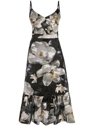 Marchesa Notte Floral Print Sleeveless Dress 60