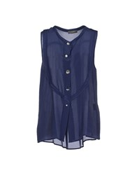 Soallure Shirts Shirts Women Dark Blue