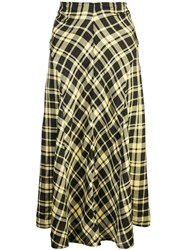 Proenza Schouler Ruched Seamed Skirt Yellow