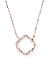 Bloomingdale's Diamond Geometric Pendant Necklace In 14K Rose Gold .20 Ct. T.W. White Rose