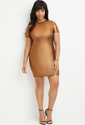 Forever 21 Plus Size Metallic Sheath Dress Copper