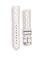 Michele Urban Quilted Leather Watch Strap 16Mm Whisper White