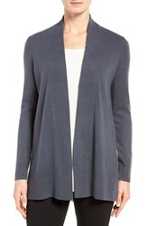Nordstrom Women's Collection Open Front Cashmere Cardigan Grey Onyx