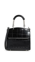 Alexander Wang Dime Mini Flap Satchel Black