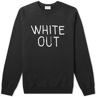 Wood Wood Hester White Out Crew Sweat Black