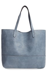 Sole Society Dawson Oversize Faux Leather Shopper Blue Chambray