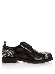 Loewe Studded Leather Derby Shoes Black Multi