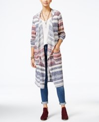 American Rag Striped Duster Cardigan Only At Macy's Dark Denim