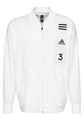 Adidas Performance Coach Tracksuit Top Non Dyed White