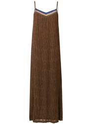 Roberto Collina Knitted Maxi Dress Brown