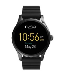 Fossil Q Marshal Silicone Strap Touch Screen Smart Watch Black