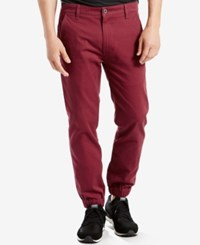 Levi's Men's Chino Jogger Pants Dark Red 8