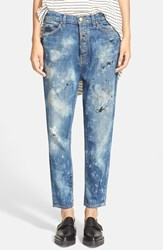 Women's The Great 'The Mister Slouch' Hand Painted Distressed Boyfriend Jeans