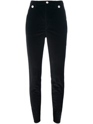Isabel Marant Skinny Button Detail Trousers Black