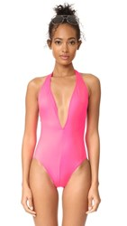 Solid And Striped The Willow One Piece Hot Pink