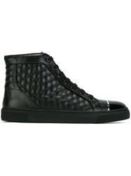 Louis Leeman Quilted Hi Tops Black