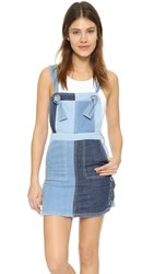 Sjyp Denim Overall Dress Denim Blue
