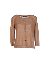 Soallure Knitwear Cardigans Women Brown
