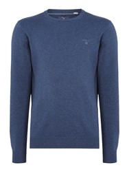 Gant Men's Lightweight Cotton Crew Neck Jumper Denim