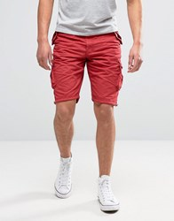 Brave Soul Cargo Shorts Red