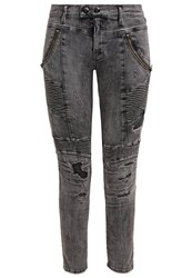 Replay Merideth Slim Fit Jeans Black Heavy Destroyed Black Denim