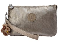 Kipling Creativity Xl Pouch Metallic Pewter Clutch Handbags