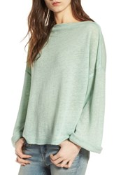 Treasure And Bond Women's Slouchy Fleece Pullover Green Fondant