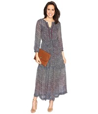 Lucky Brand Ditsy Maxi Dress Multi Women's Dress