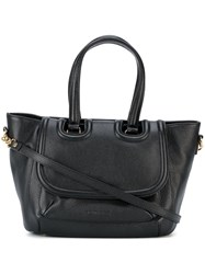 L'autre Chose Flap Closure Medium Tote Black