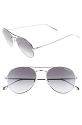 Tom Ford Women's Ace 55Mm Stainless Steel Aviator Sunglasses Shiny Rhodium Gradient Smoke Shiny Rhodium Gradient Smoke