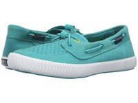 Sperry Sayel Away Sport Teal Women's Lace Up Moc Toe Shoes Blue