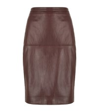 Reiss Cleo Leather Skirt Female