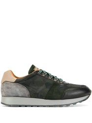 Magnanni Colour Blocked Low Top Sneakers Green