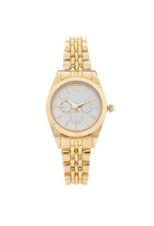 Forever 21 Chronograph Bracelet Watch White Gold