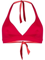 Fisico Reversible Triangle Bikini Top Red